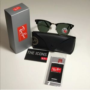 Ray-Ban Clubmaster Tortoise Gold POLARIZED New